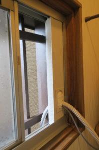 窓貫通材の使用例(パナソニック)